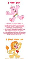 My Top Five Members of the Care Bear Family by Hyaroo