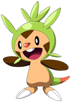 Pokemon X and Y -Chespin- by Krizeii