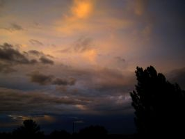 backside of a thunderstorm by wolfilain
