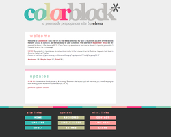 Colorblock's New Layout v5 by elenahboo