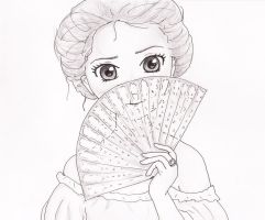 Oldstyle girl with fan by Snoffi2012