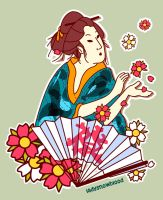geisha sticker by ladysnowbloodz