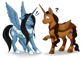 RobinxMorgana: What the equine? by leviadragon99