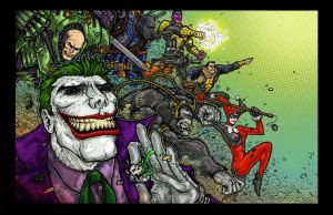 DC VILLAINS UNITED color by TaylorGarrity