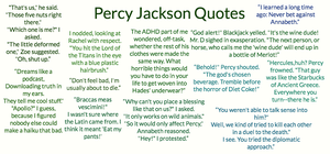 (awesome)Percy Jackson Quotes by Porsheee