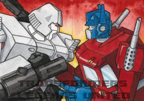 Megatron and Optimus Prime Award Cards by Kenai-Okami75