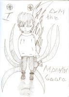 Lil' Monster Gaara by QweXTheXEccentric