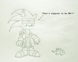 Sonic and a Hedgehog, Lineart by MetroXLR99