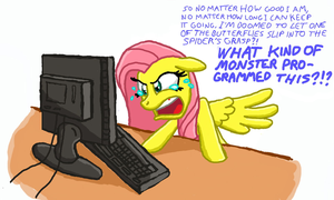 Fluttershy Plays Bejeweled 3 by BlehMaster7
