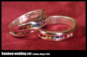 Rainbow wedding set by Dans-Magic