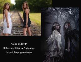 Before and After Good and Evil by Phatpuppyart-Studios