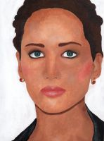 Jennifer Lawrence ::ACRYLICS:: by lucidcoyote