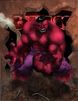 Red Hulk by commanderlewis