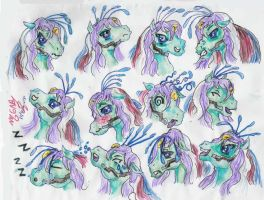 Gyromite face expretions by Sapphire-Light