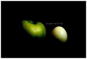 an apple and an egg by kilroyhasbeenhere