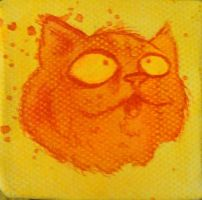 mini canvas cat by GLoeNn