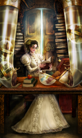 Librarian Priestess by brass-and-steam