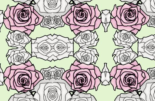 ROSE PATTERN REPEAT by B-R-Illustrations