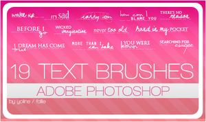 19 text brushes by fallie