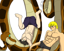 Billy And Teddy Meet Kaa Censor by AionK23