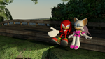 Knuckles and Rouge in Jungle Joyride by itsHelias94