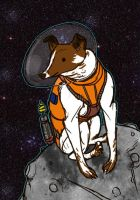 Laika the Astrodog by barbaryAPE