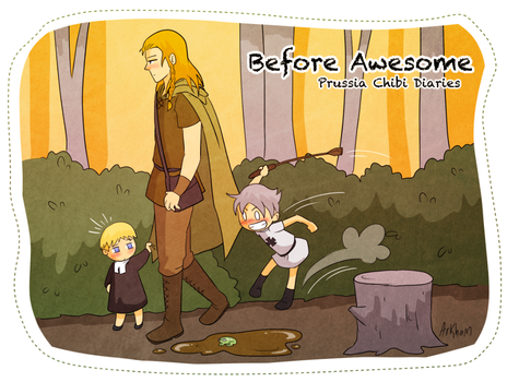 Peaceful walk in the woods - Chibi Prussia Diaries by Arkham-Insanity