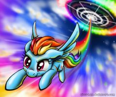 Rainbow Dash - Technicolor Sky by Kitty-Ham