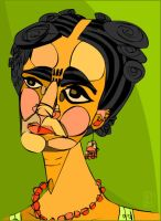 Portrait of Frida Kahlo by Greedom
