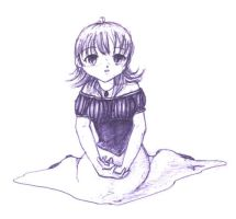 -QQ- sitting girl by kageki
