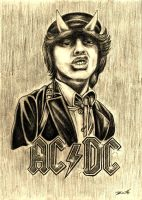 Angus Young AC/DC by Zafe12