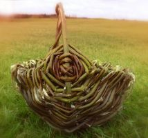 Rustic Willow Melon basket by NightPhoenixArt