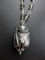 Baby Bat necklace - pewter by velvetacide