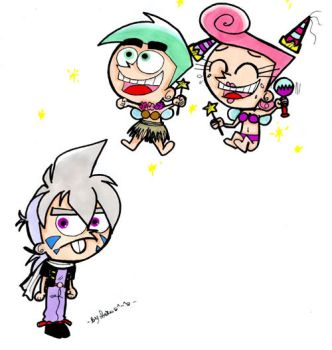 kai and the fairly odd parents by Sori-Chan