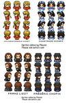 Composer RPG sprites: Party Members 1/? by Mewsol