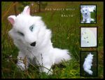 The White Wolf - Aniu - Plush by Starcanis