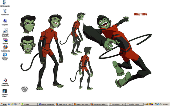 Young Justice - Beast Boy Desktop1 by DTWX