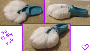 Ice's Fursuit: Right Foot Paw Partially Furred! by Ice-Artz