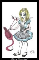 Alice plays qroquet by Alice-fanclub