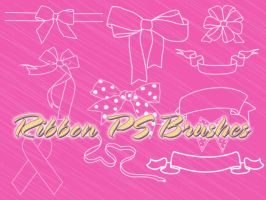 Ribbon Photoshop Brushes by petermarge