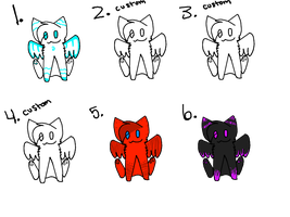 Cats With Wings Adoptables OPEN by Moozer-Adopts