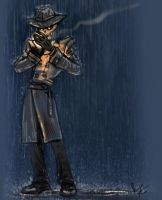 Skulduggery Pleasant Skulintherain by jameson9101322
