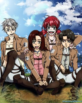 Shingeki no Kyojin-Nasha and the Thug Trio by Asphil
