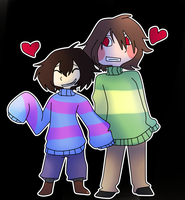 :Undertale:~Couple of DETERMINED kids~ by SchwiftyBurito