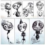 A Bunch of Black and White Drawings by eszalkowski229