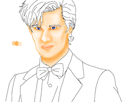 11th Doctor Digital Painting WIP by Chrisily