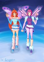 Bloom and Tecna by RusCoollGirl