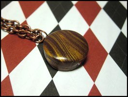 Wood Grain Necklace by GrandmaThunderpants