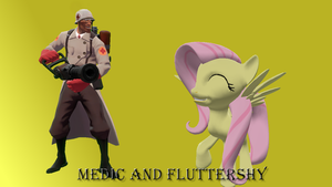 Medic and Fluttershy by FD-Daylight