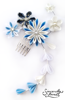 Winter Morning Kanzashi by SincerelyLove